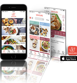 Application Saveurs pour iPhone